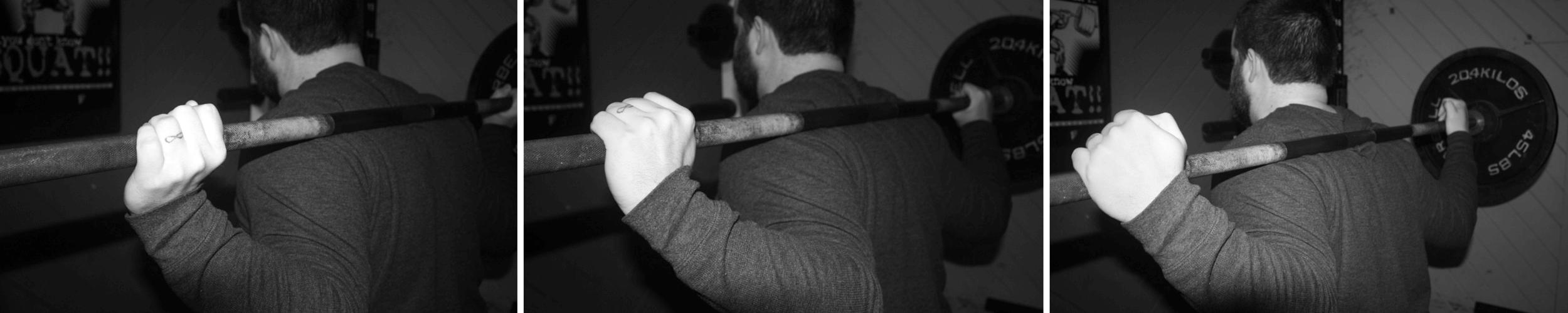 Squat wrist position