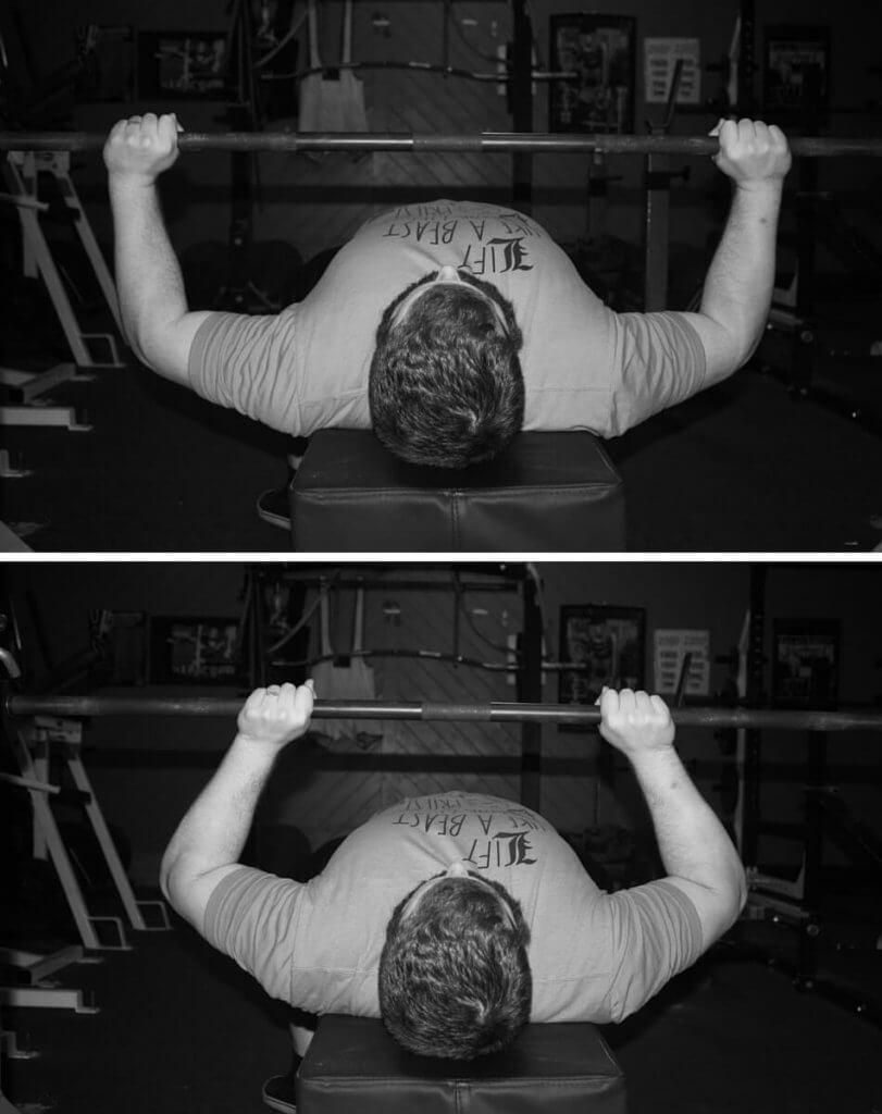 Grip width triceps