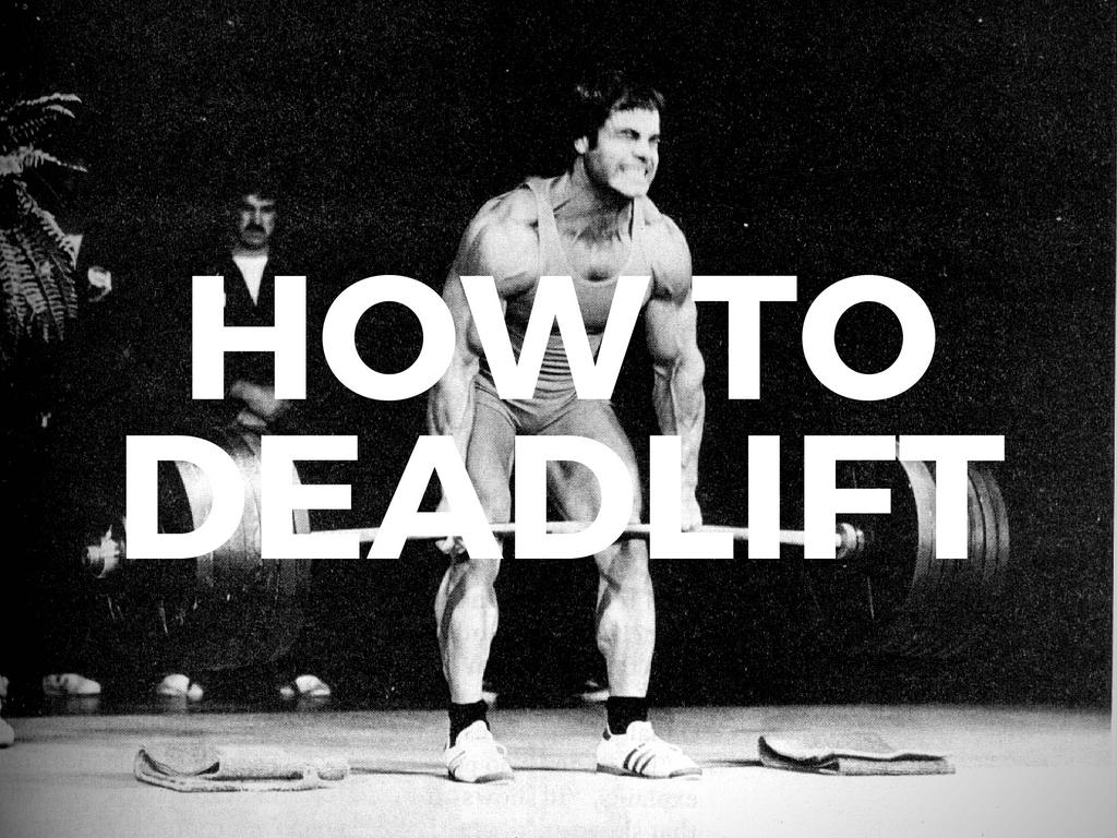 how to deadlift