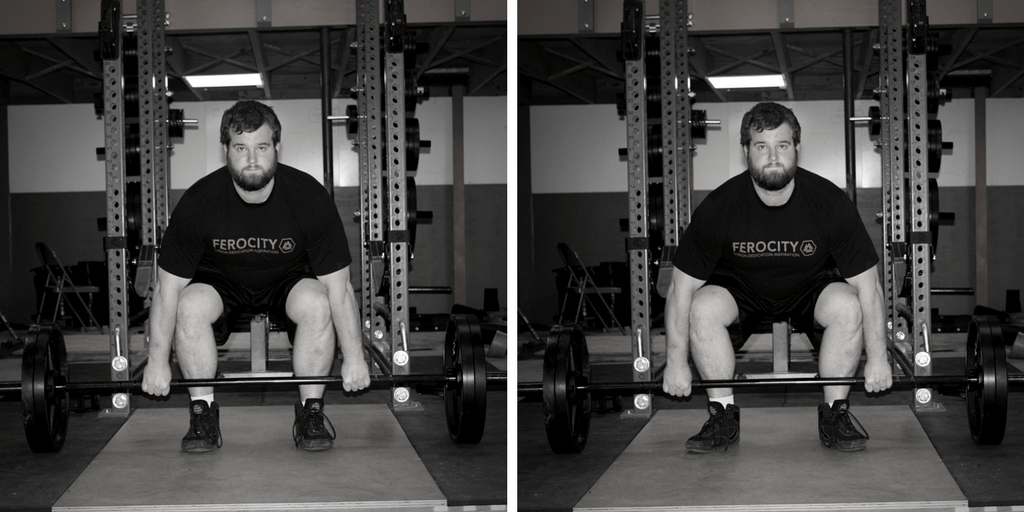 conventional deadlift setup with feet pointed out vs straight ahead