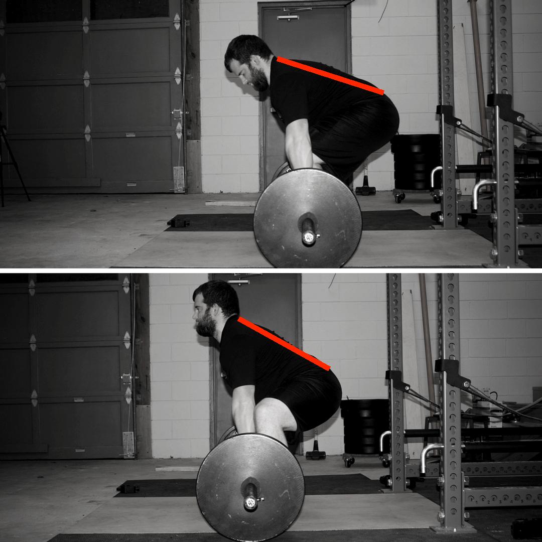 conventional deadlift vs sumo deadlift back angle