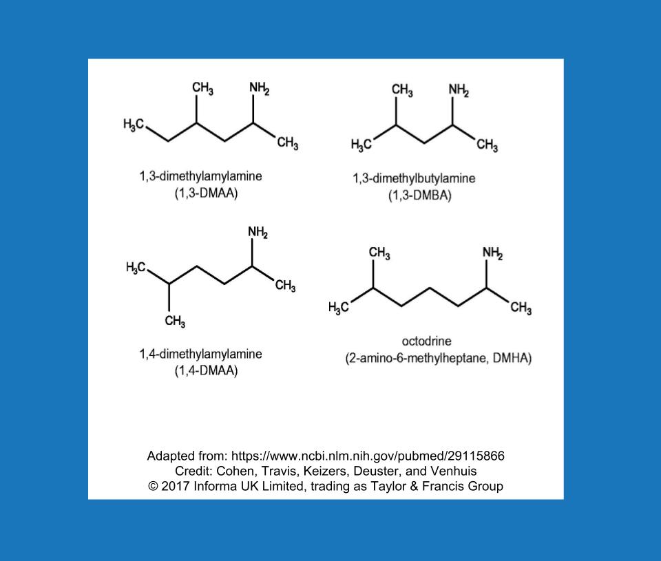1,3-dimethylamylamine (DMAA)